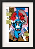 Uncanny X-Men 268 Cover: Captain America Print by Jim Lee