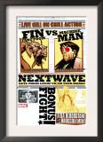 Nextwave 2 Cover: Fin Fang Foom and Machine Man Art by Stuart Immonen