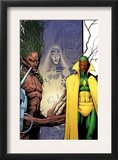Avengers Thunderbolts 5 Cover: Vision, Moonstone and Blackheath Posters by Tom Grummett