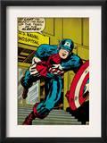 Marvel Comics Retro: Captain America Comic Panel, U.S. naval Hospital (aged) Poster