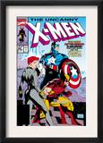 Uncanny X-Men 268 Cover: Black Widow, Wolverine and Captain America Prints by Jim Lee
