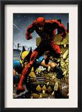Wolverine 24 Cover: Daredevil and Wolverine Print by Greg Land