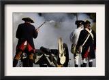 Artillery Demonstration, Revolutionary War Reenactment at Yorktown Battlefield, Virginia Art