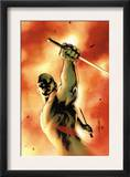 Drax The Destroyer 3 Cover: Drax The Destroyer Fighting Prints by Mitchell Breitweiser