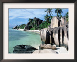 Rocky Coast and Beach, La Digue, Anse Source D'Argent, Seychelles Prints by  Reinhard