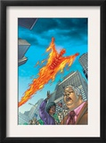 Human Torch 10 Cover: Human Torch Art by Joe Dodd