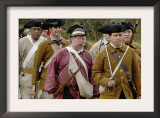 Lexington Minutemen Reenactors March at Yorktown Battlefield, Virginia Prints