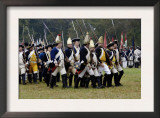 Hessian Troops in the British Army Take the Field in a Reenactment of the Surrender at Yorktown Poster