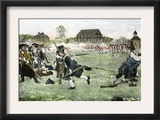 The Fight on Lexington Green, April 19, 1775, Beginning the Revolutionary War Art
