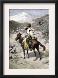 Native American Trapper in the Rocky Mountains of the Northwest Poster