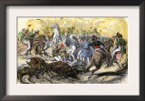 Charge of Mexican Lancers against U.S. Forces at Buena Vista during the U.S.-Mexican War, c.1847 Prints