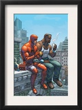 Marvel Team-Up 9 Cover: Daredevil, Cage and Luke Poster by Scott Kolins