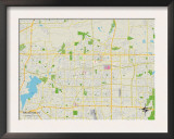 Political Map of Arlington, TX Print