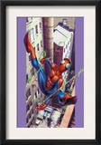Ultimate Spider-Man 8 Cover: Spider-Man Flying Prints by Mark Bagley