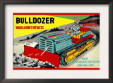 Bulldozer Which a Robot Operates Posters