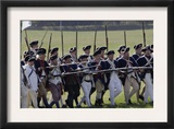 Continental Army Reenactors Advance at Yorktown Battlefield, Virginia Posters