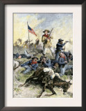 Custer's Last Stand at the Little Big Horn River, Montana, c.1876 Art