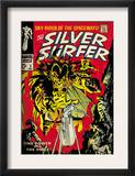 Marvel Comics Retro: Silver Surfer Comic Book Cover 3, Fighting Mephisto (aged) Posters