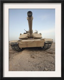 An M-1A1 Main Battle Tank Casts a Daunting Image in the Desert Near Dra Digla, Iraq Posters by  Stocktrek Images