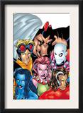 Exiles 1 Cover: Blink, Morph, Thunderbird, Mimic, Magnus and Nocturne Poster by Mike McKone