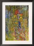 Farmers Garden with Crucifix Art by Gustav Klimt