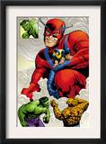 Marvel: Monsters On The Prowl 1 Group: Hulk, Thing, Giant Man and Beast Prints by Duncan Fegredo
