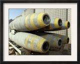 Six GBU-12 Bombs Sit in a Rack Inside a Weapons Storage Area at Al Asad, Iraq, November 3 Art by  Stocktrek Images