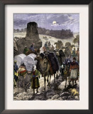 Trade Caravans on the Silk Road, the Great Highway of Central Asia Posters
