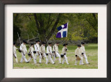 French Army Reenactors March to the Surrender Ceremony at Yorktown Battlefield, Virginia Prints