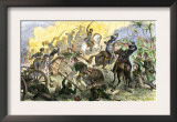 Charge of Captain May's U.S. Cavalry during the U.S.-Mexican War, c.1840 Prints
