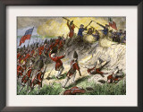 British Assault on the American Position Atop Breed's Hill, Battle of Bunker Hill, c.1775 Prints