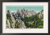 Custer State Park, South Dakota - Needles Highway View of the Cathedral Spires, c.1937 Posters