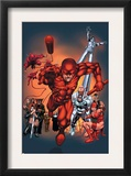 The Official Handbook Of The Marvel Universe: Daredevil 2004 Cover: Daredevil Prints by Salvador Larroca