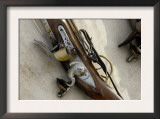 Flintlock Musket at a Reenactment on the Yorktown Battlefield, Virginia Posters