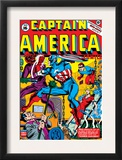 Captain America 16 Cover: Captain America, Red Skull and Bucky Fighting Prints by Al Avison