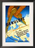 Deruluft German Airline Poster Prints
