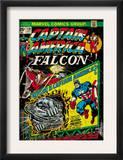Marvel Comics Retro: Captain America Comic Book Cover 178, with the Falcon (aged) Prints