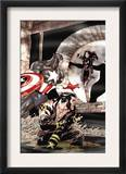 Wolverine Captain America 2 Cover: Wolverine and Captain America Fighting Prints by Tom Derenick