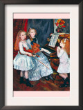 Portrait of The Daughters of Catulle MendAt The Piano Posters by Pierre-Auguste Renoir