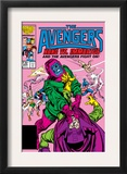 Avengers 269 Cover: Kang and Immortus Fighting Prints by John Buscema
