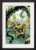 X-Men: First Class Giant-Size Special 1 Cover: Beast, Cyclops, Marvel Girl, Angel and Iceman Prints by Jeff Parker