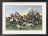 Death of General de Kalb at the Battle of Camden, South Carolina, c.1780 Posters