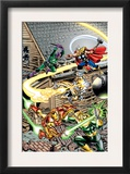 Avengers 16 Cover: Thor, Iron Man, Firestar, Thunderball, Bulldozer, Avengers and Wrecking Crew Prints by Jerry Ordway