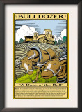Bulldozer Prints by Wilbur Pierce