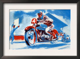 No. 4 Motorcycle Poster