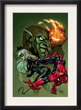 Marvel Knights Spider-Man V3, 10 Cover: Black Cat, Spider-Man and Green Goblin Crouching Prints by Terry Dodson