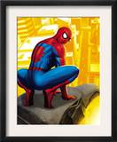 Spider-Man In the City, Crawling on Gargoyle Poster
