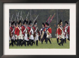 British Army Takes the Field in a Reenactment of the Surrender at Yorktown Battlefield, Virginia Posters