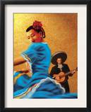 Mariachi and Flamenco Dancer Poster