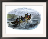 Cod Fishermen in a Small Boat Off the New England Coast Prints